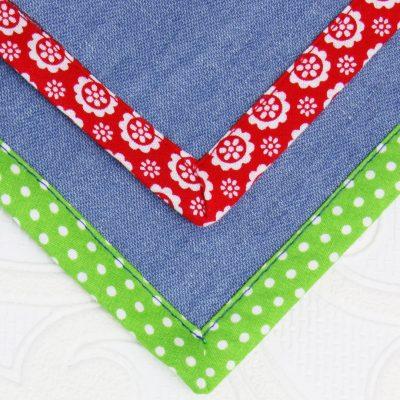 how to sew bias tape corners