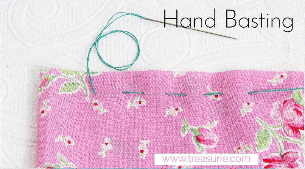 hand basting stitch for sewing