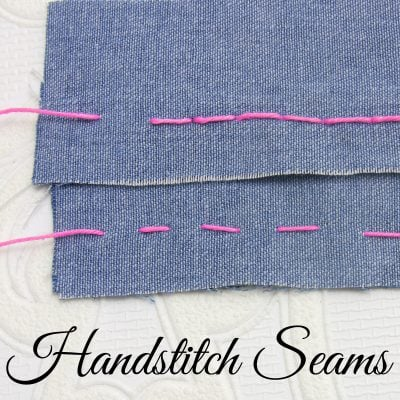how to hand stitch seams