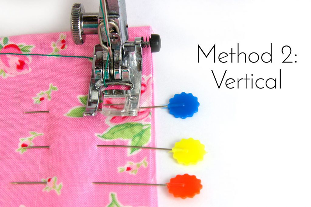 How to Pin Fabric with Vertical Pins