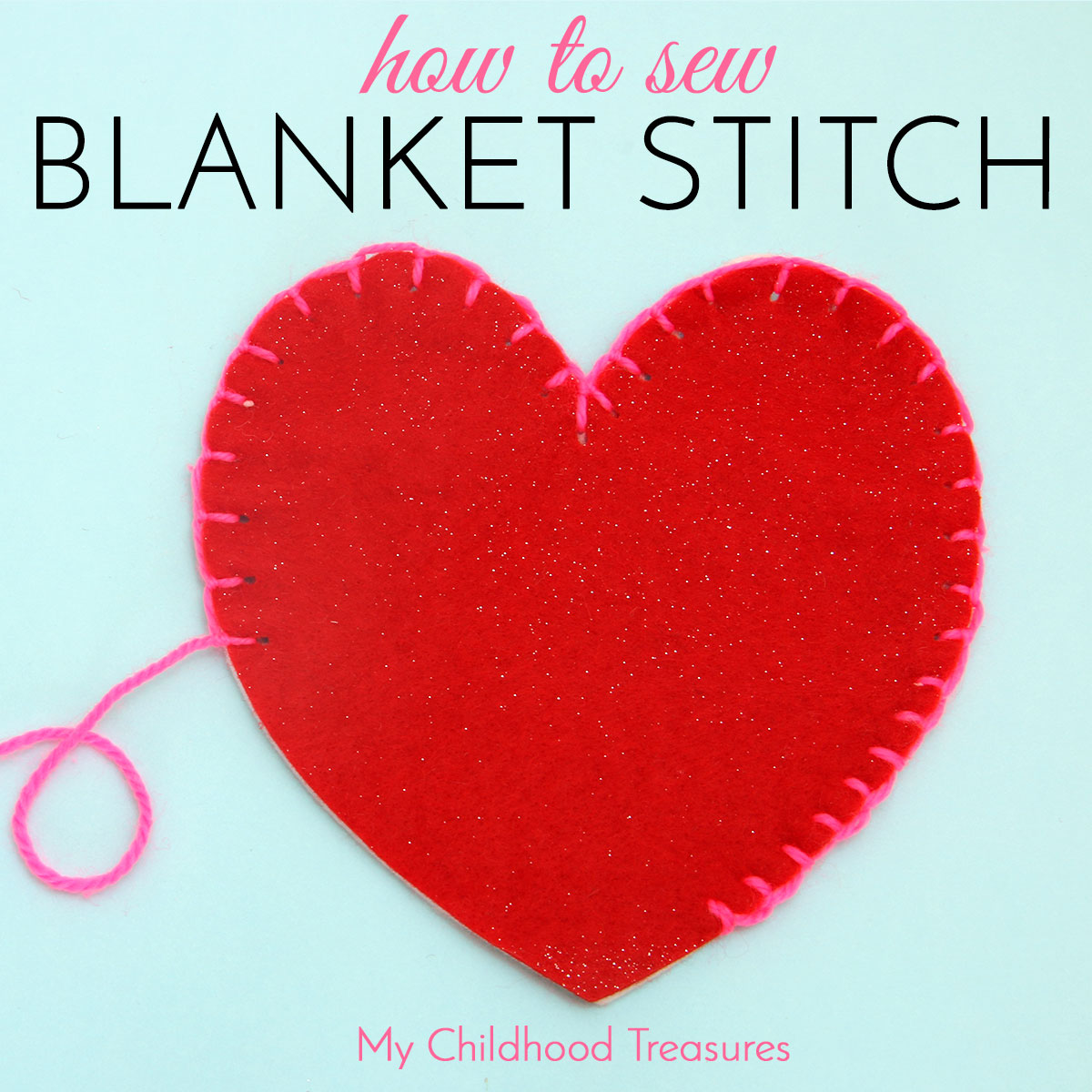 blanket stitch how to do blanket stitch for beginners treasurie. Black Bedroom Furniture Sets. Home Design Ideas