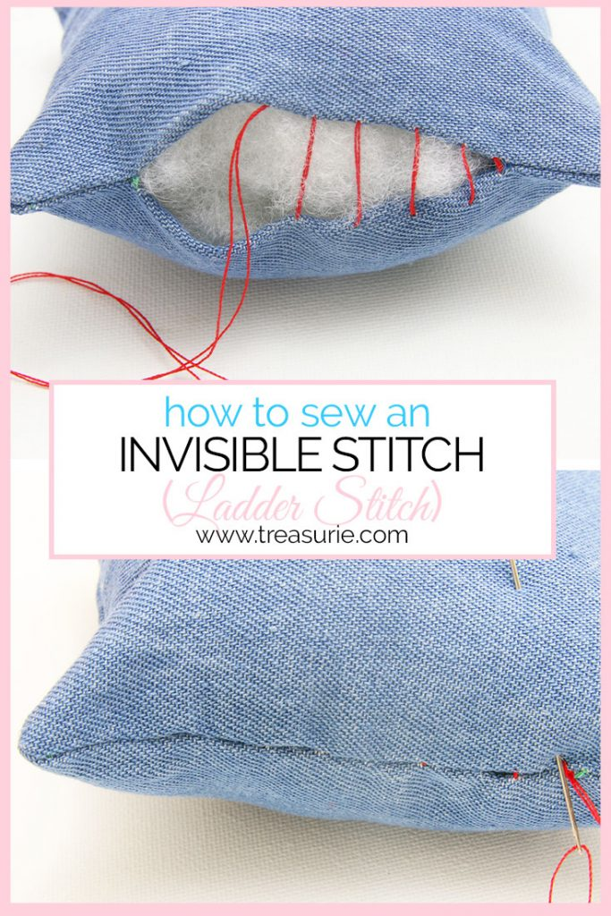 ladder stitch, invisible stitch, slip stitch