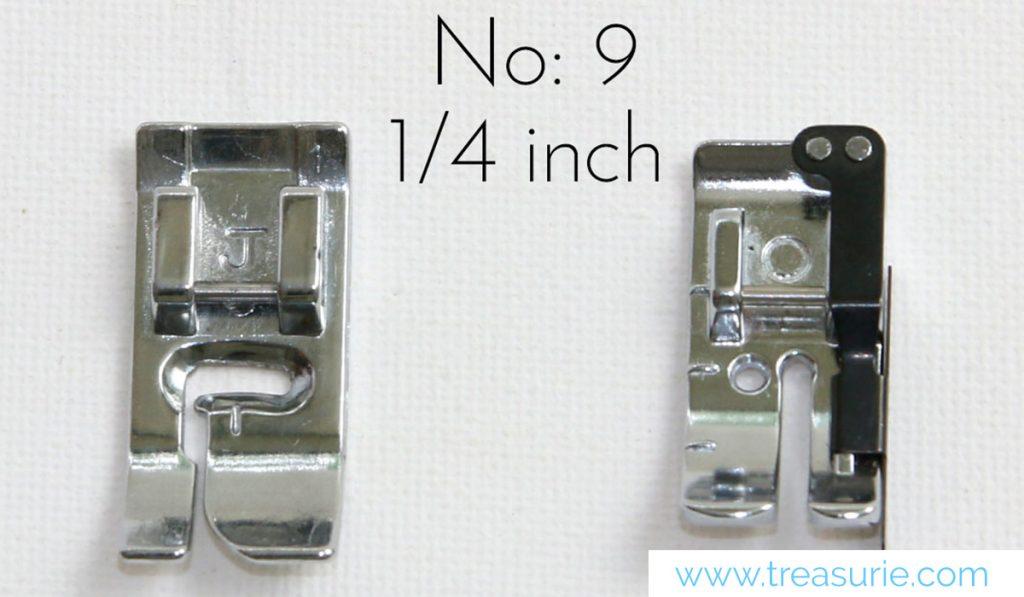 quarter inch sewing feet