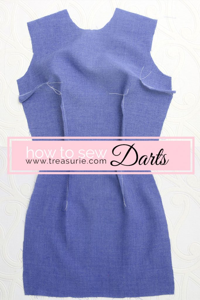 how to sew double darts, how to sew darts, waist darts