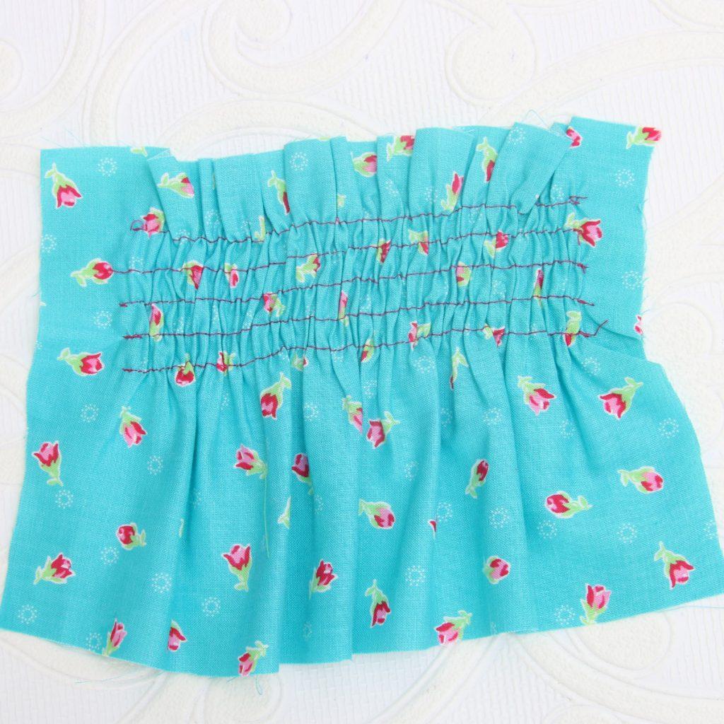 sewing with elastic thread, shirring