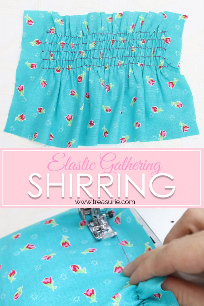 shirring fabric, Sewing with elastic thread
