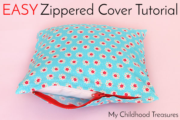 How to Make Cushion Covers - EASY Zippered Cushion Covers