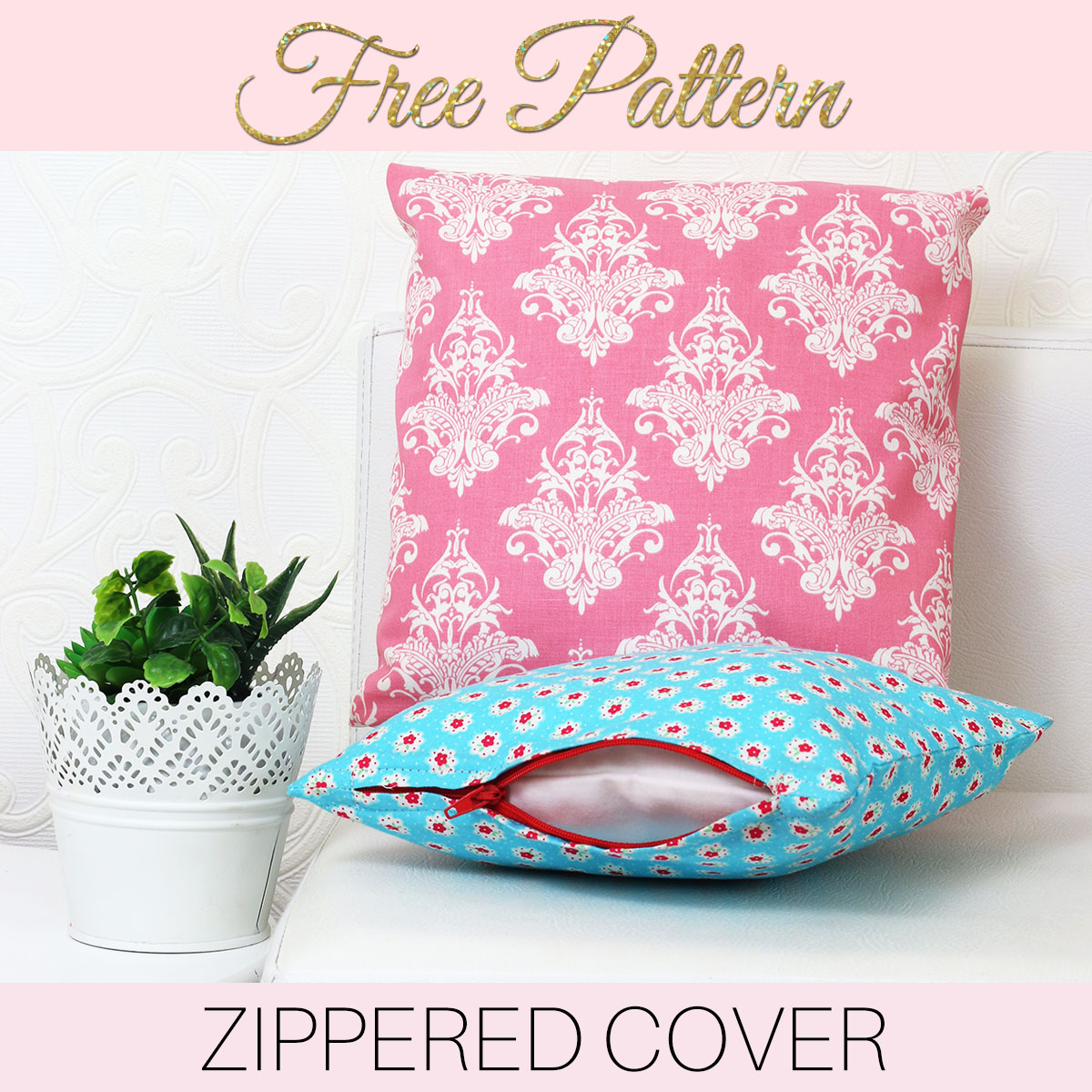 how to make zippered cushion covers for beginners treasurie. Black Bedroom Furniture Sets. Home Design Ideas