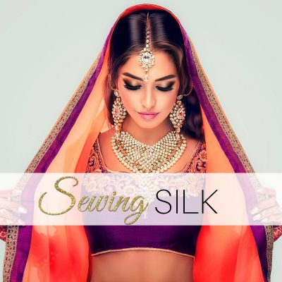 sewing silk