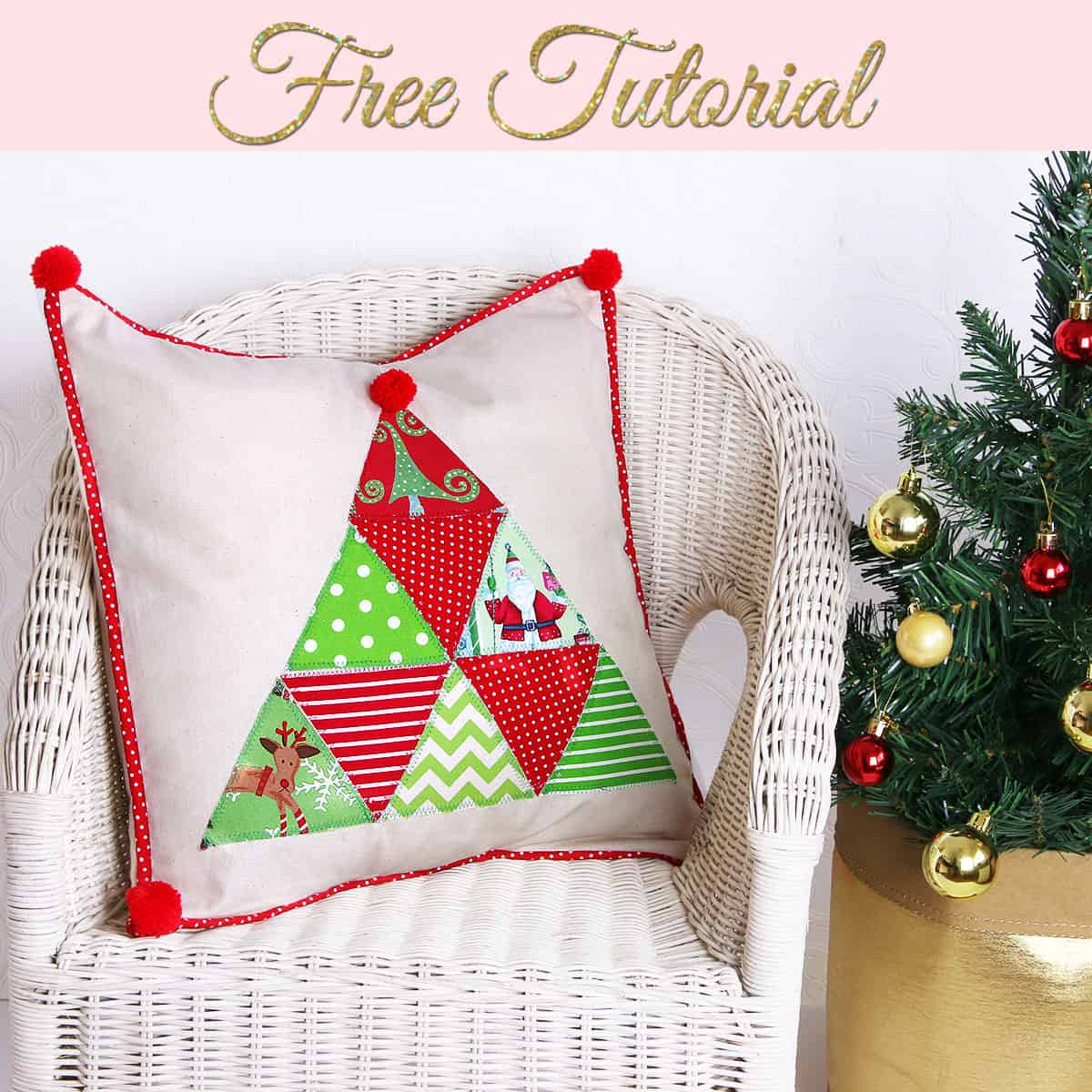 Christmas Tree Facebook Cover Photo: Pretty Cover With Tree Applique