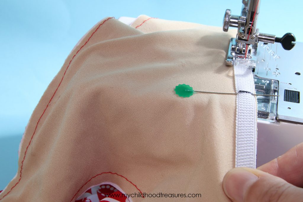 How to Sew Elastic in Leotards - Step 4