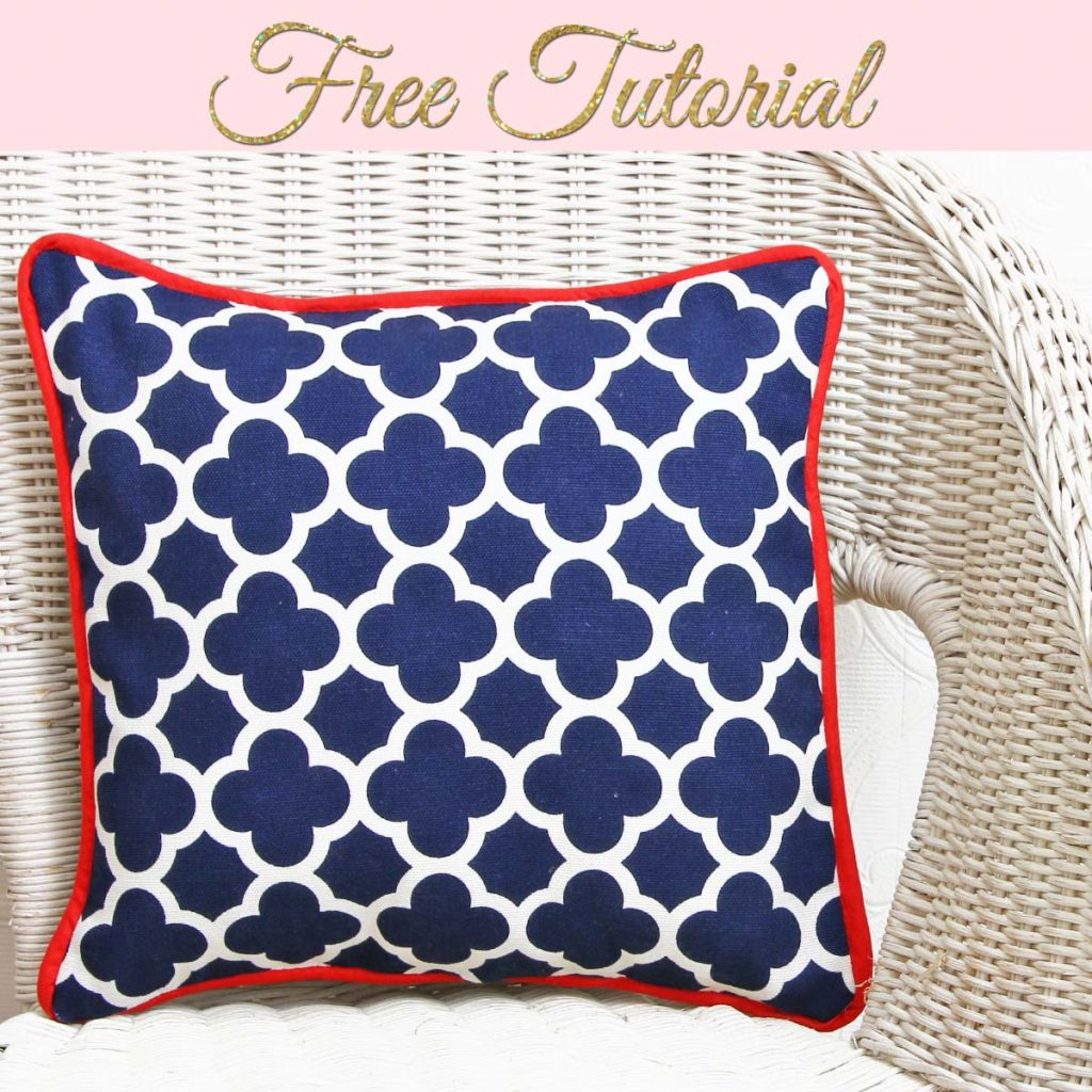 Make A Cushion Cover With Piping