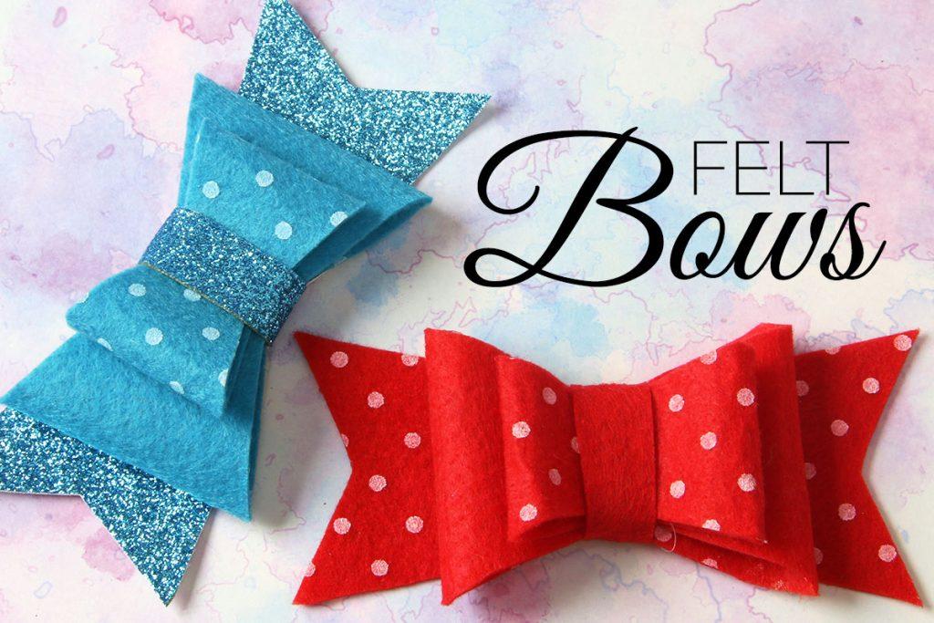 diy felt bow