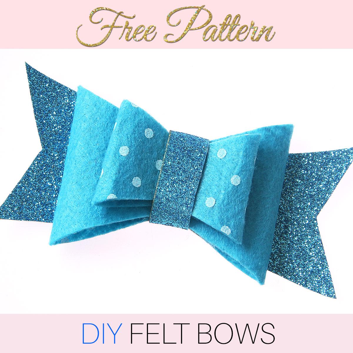 Diy Felt Bow With Free Printable Pattern Treasurie