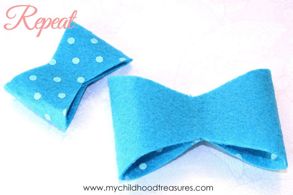 diy felt bows step 2
