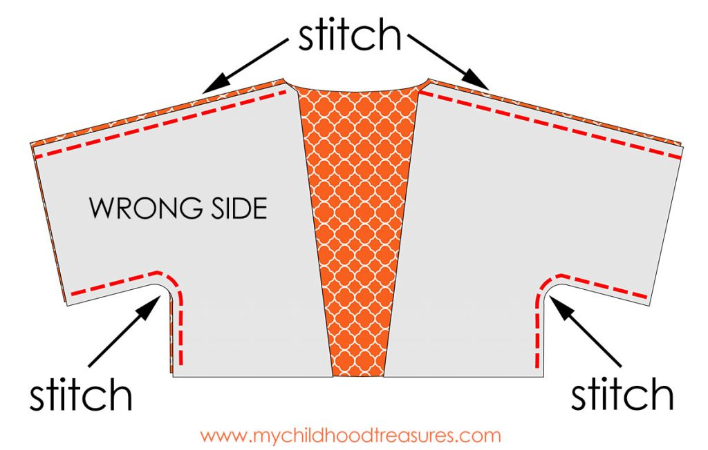 Kimono Jacket Pattern step 1