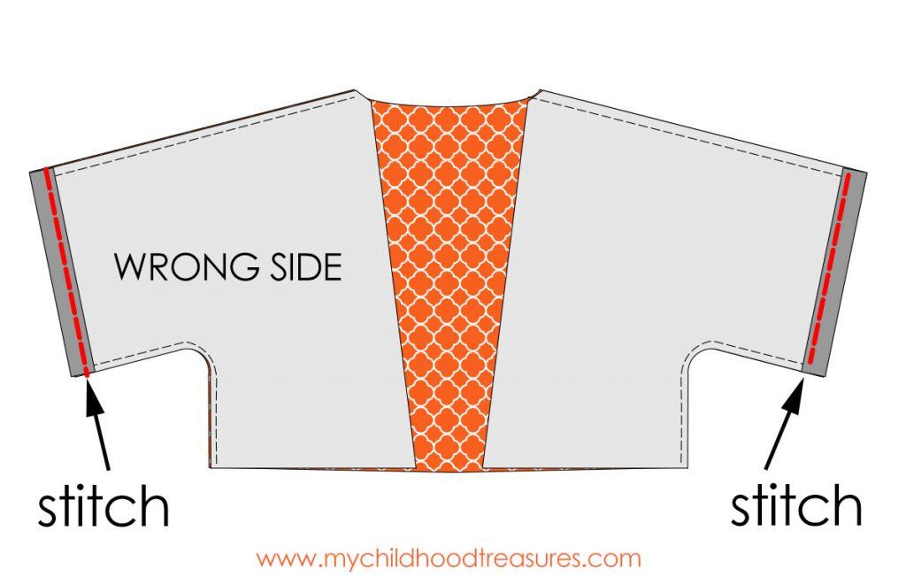 Kimono Jacket Pattern step 2