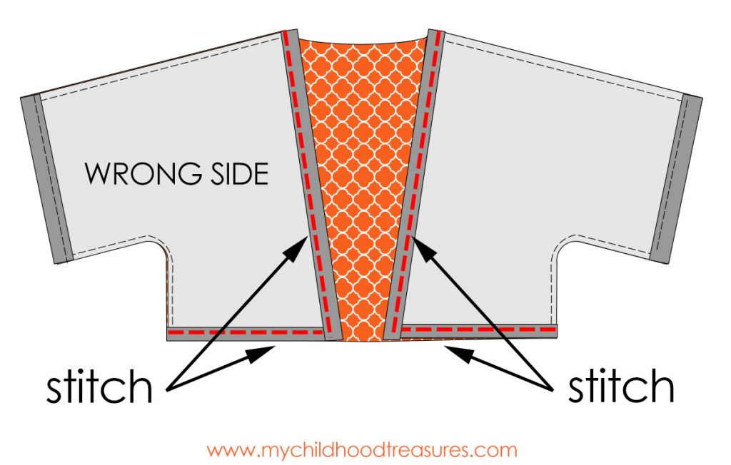 Kimono Jacket Pattern - Step 3