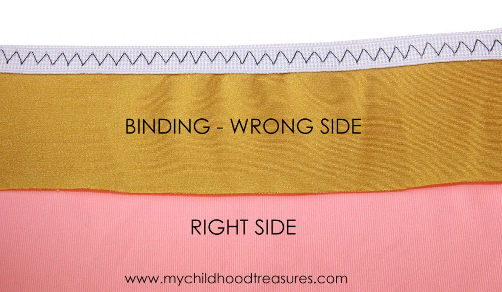 how to sew binding step 2