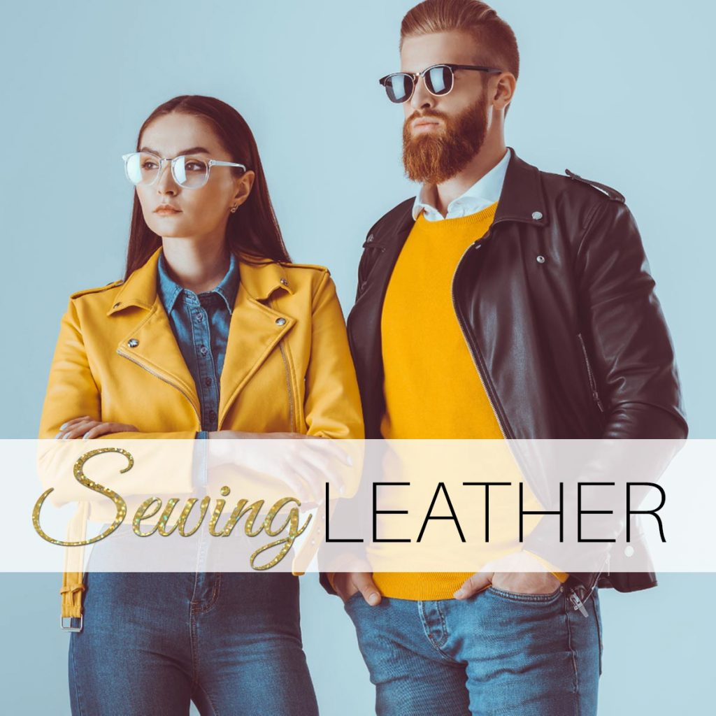 sewing leather, how to sew leather