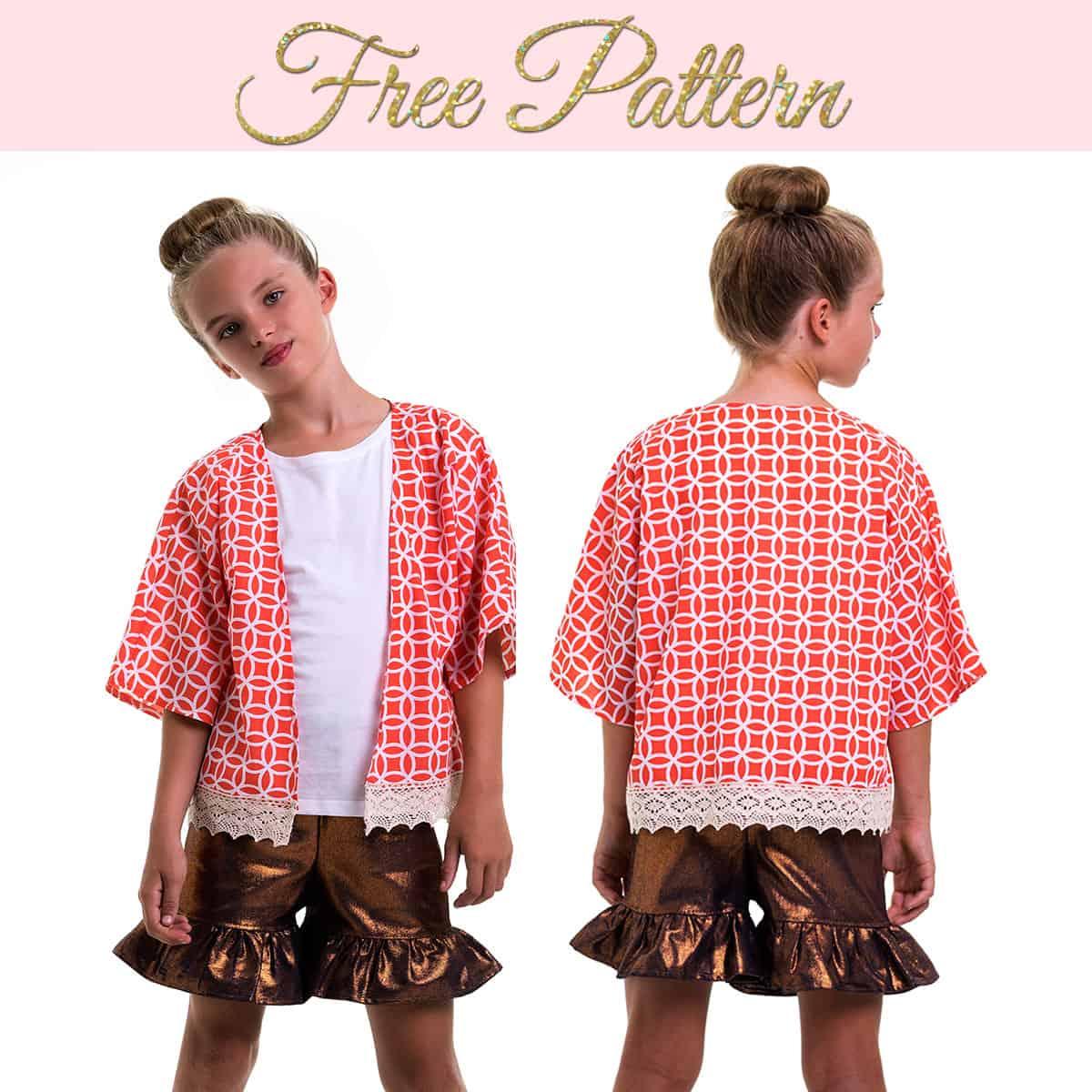 Free Kimono Jacket Pattern Simple Pattern For Girls