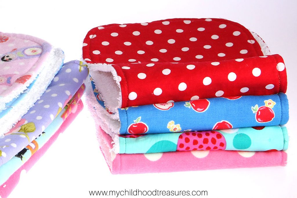 how to make a burp cloth