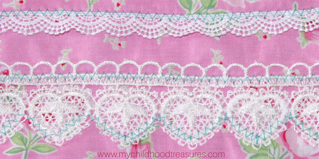 how to sew lace trim flat
