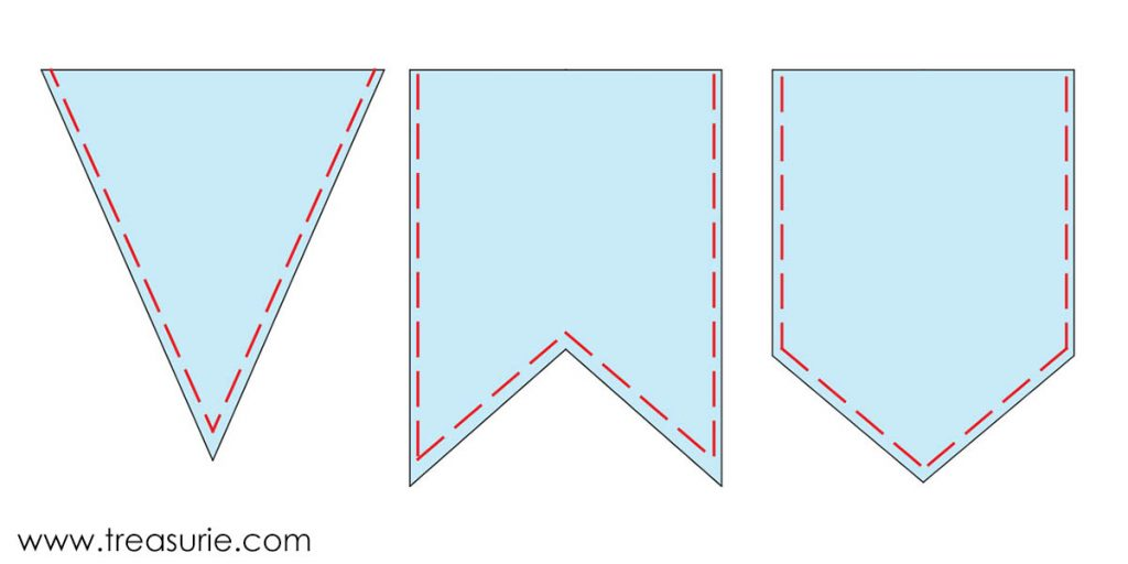how to make bunting step 3