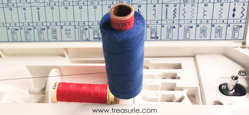 twin needle thread machine