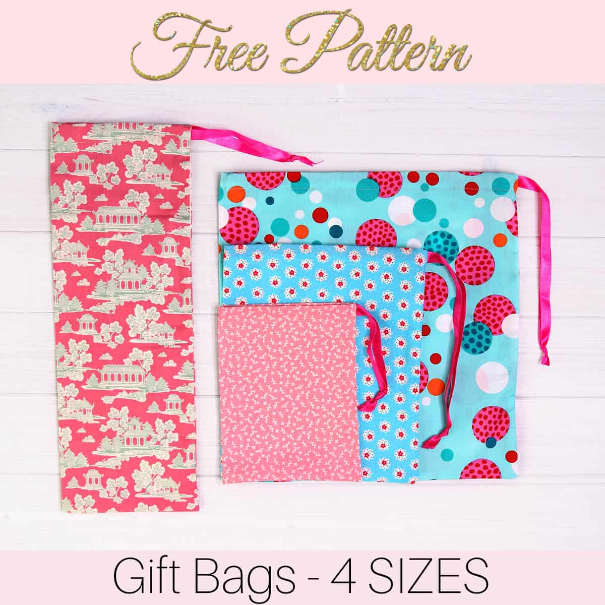 How To Make Gift Bags From Fabric In 5 Minutes