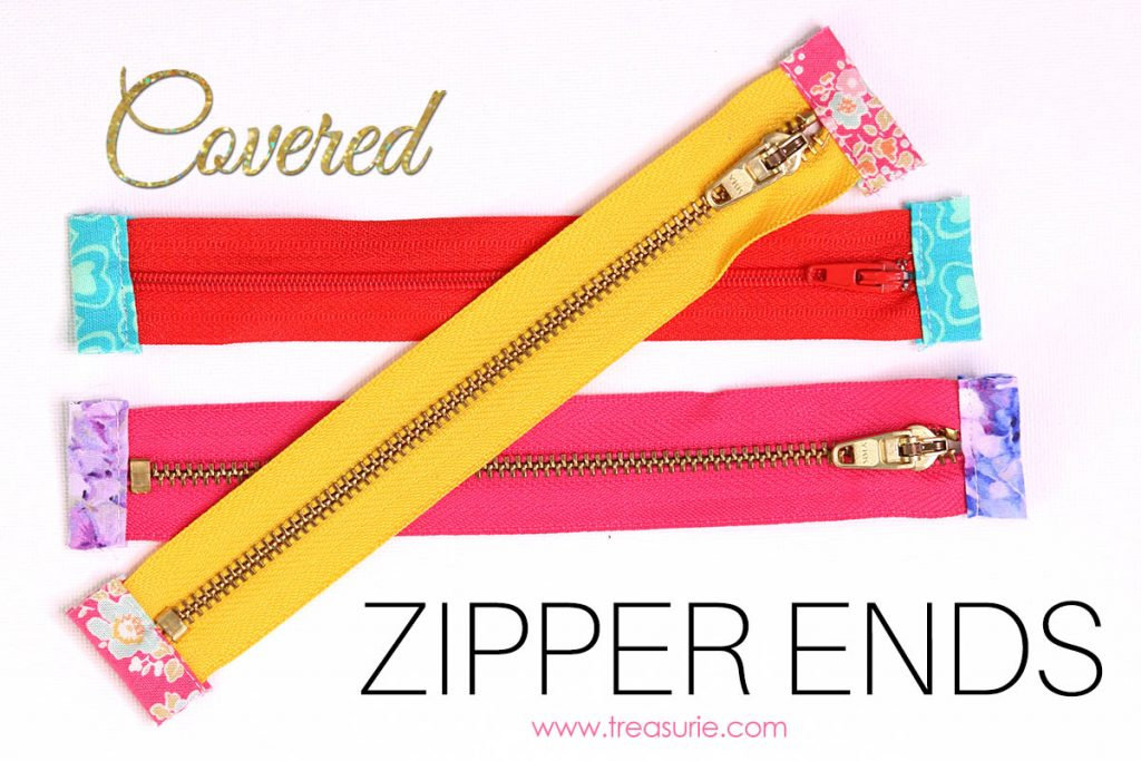 how to cover zipper ends