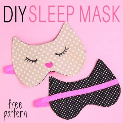 sleep mask tutorial