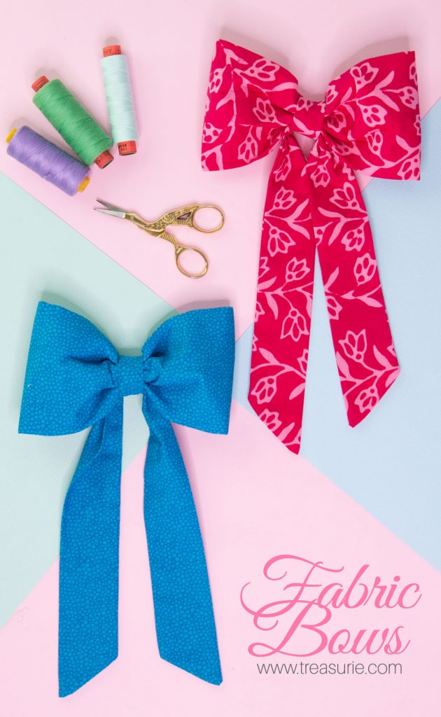 large fabric bows
