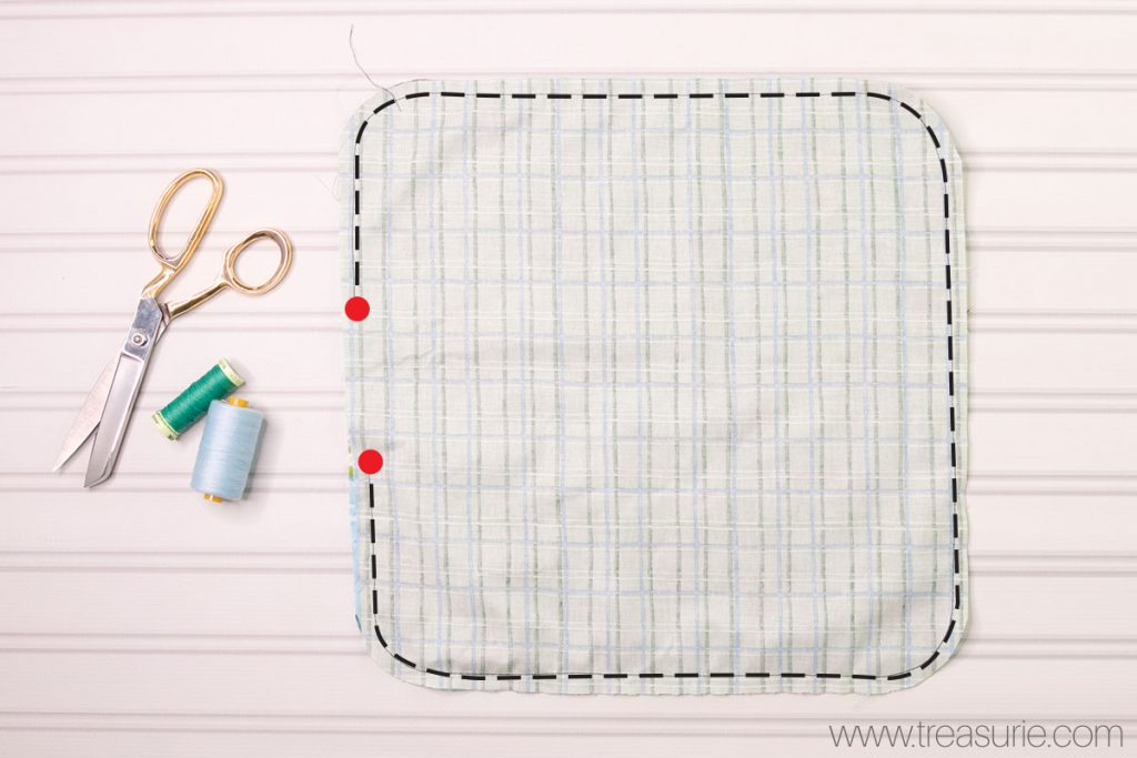 How to Make a Baby Blanket - Stitching