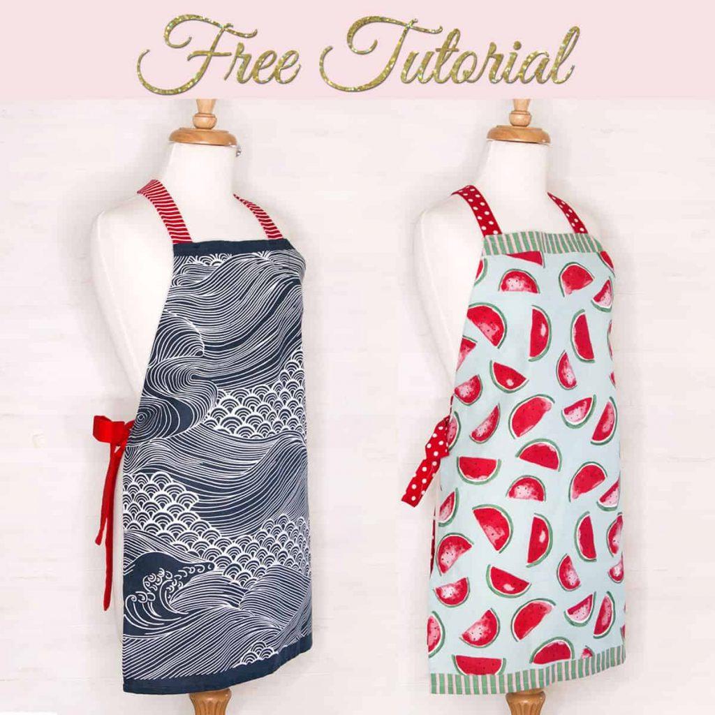 diy tea towel apron