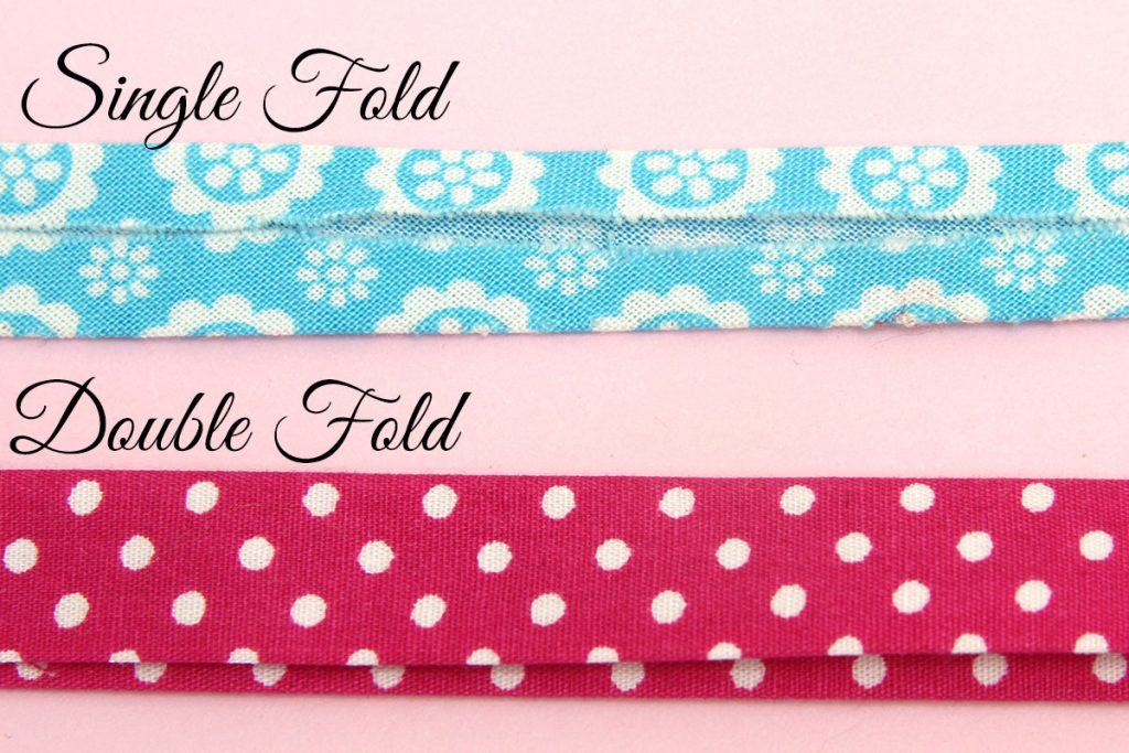 single fold vs double fold bias tape