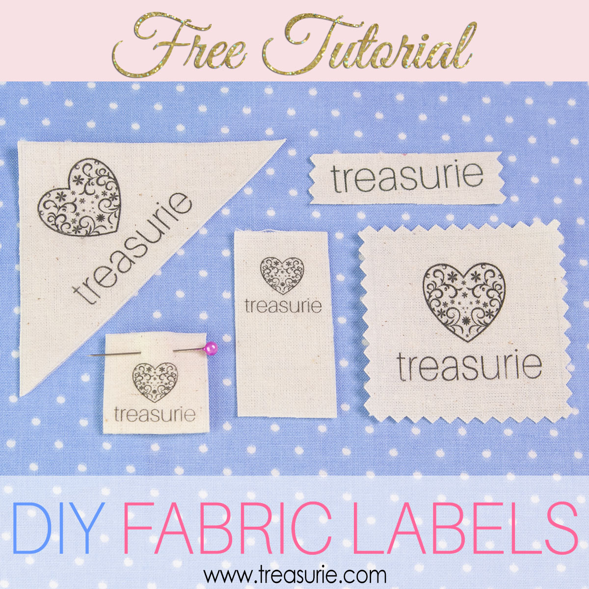 Make your own clothing labels diy fabric labels cheaply for Create fabric labels