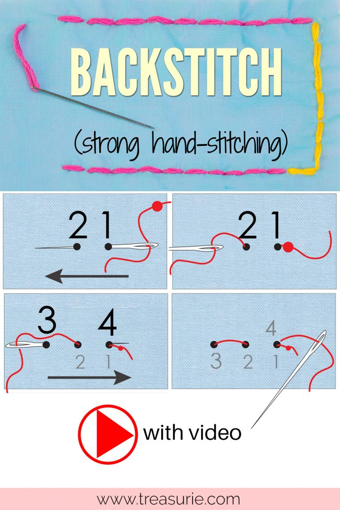 how to backstitch, how to back stitch, how to sew backstitch