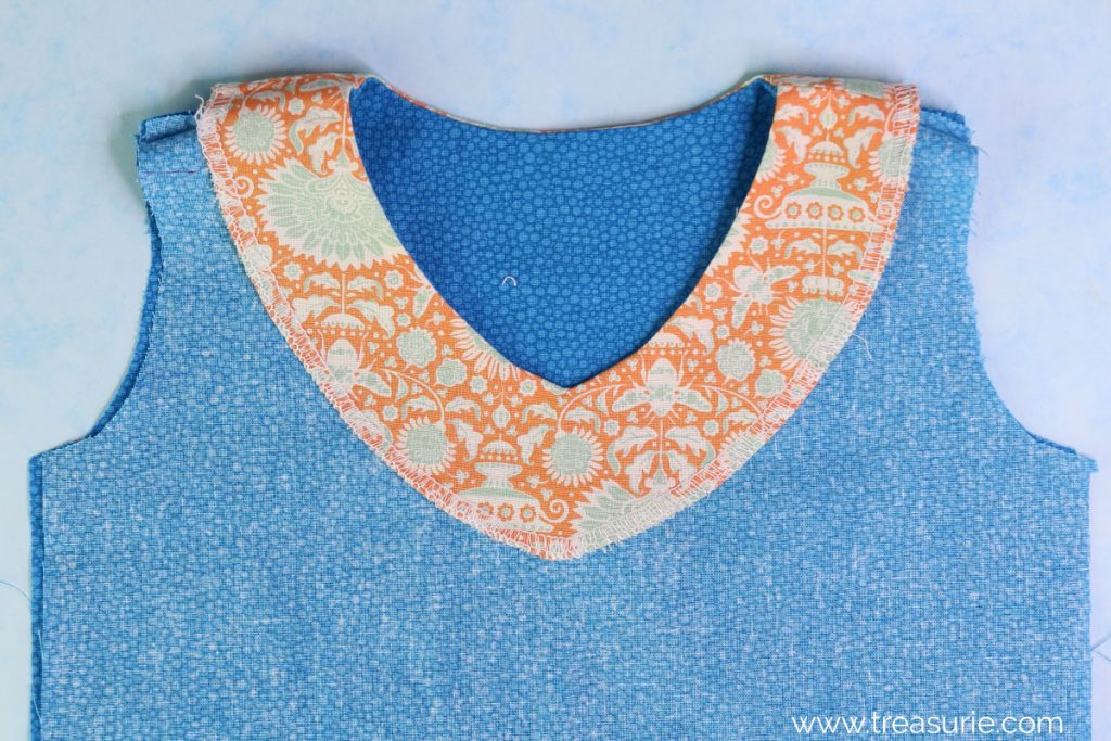 how to sew facing