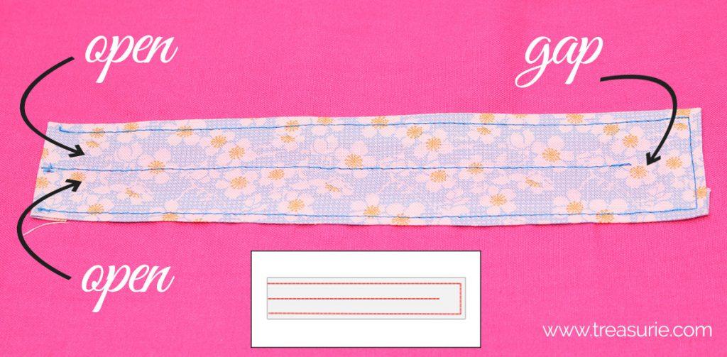 ruching strip of fabric