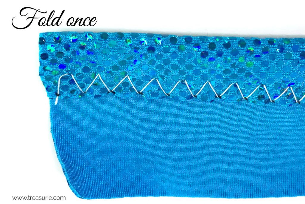 how to sew spandex straps step 2
