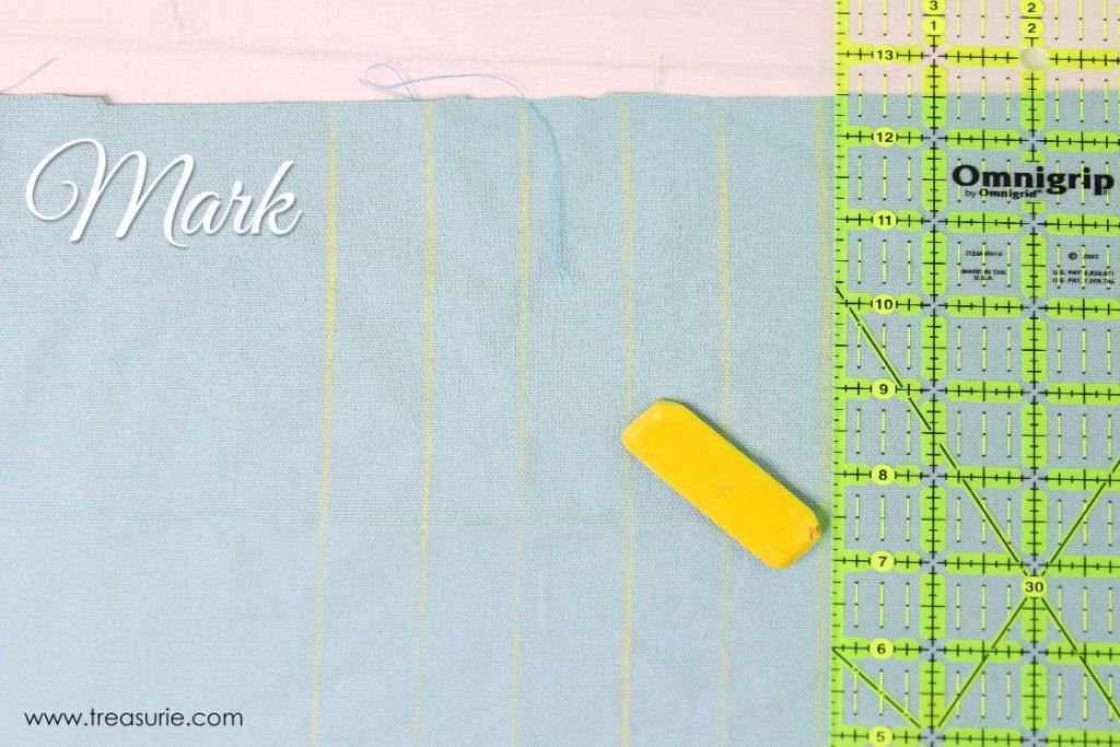 how to sew pintucks step 1