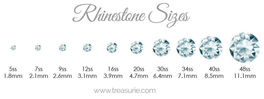 rhinestone sizes