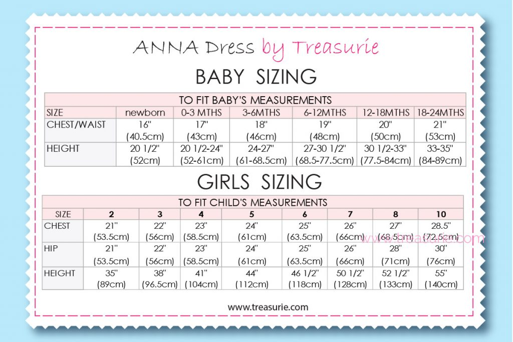 anna dress sizing