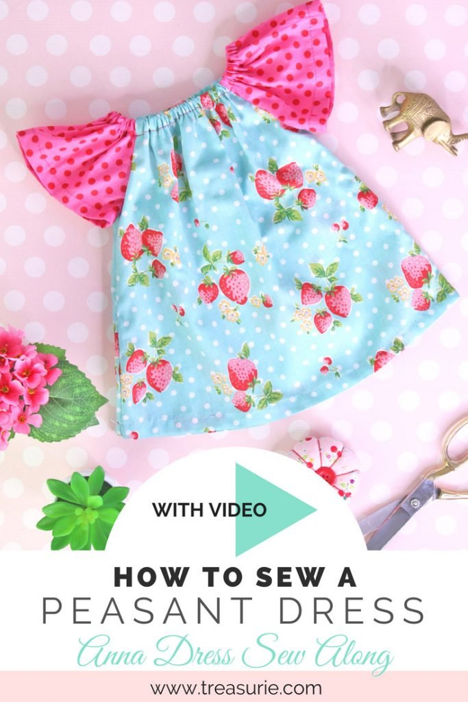 how to sew a peasant dress