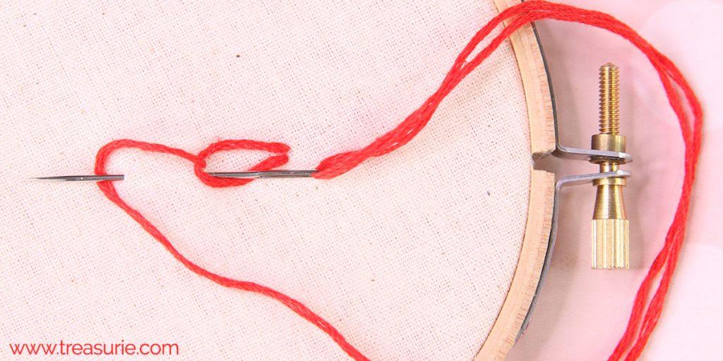chain stitch step 3