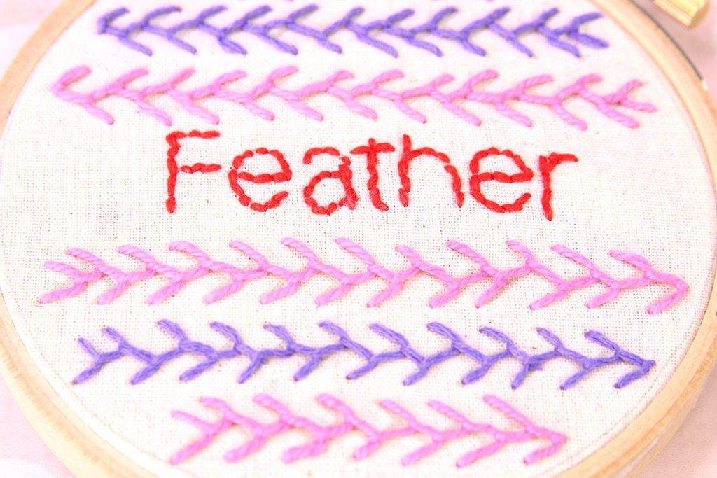 feather stitch, featherstitch