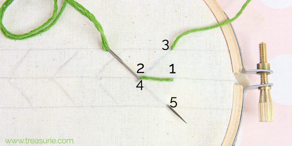 fern stitch step 2