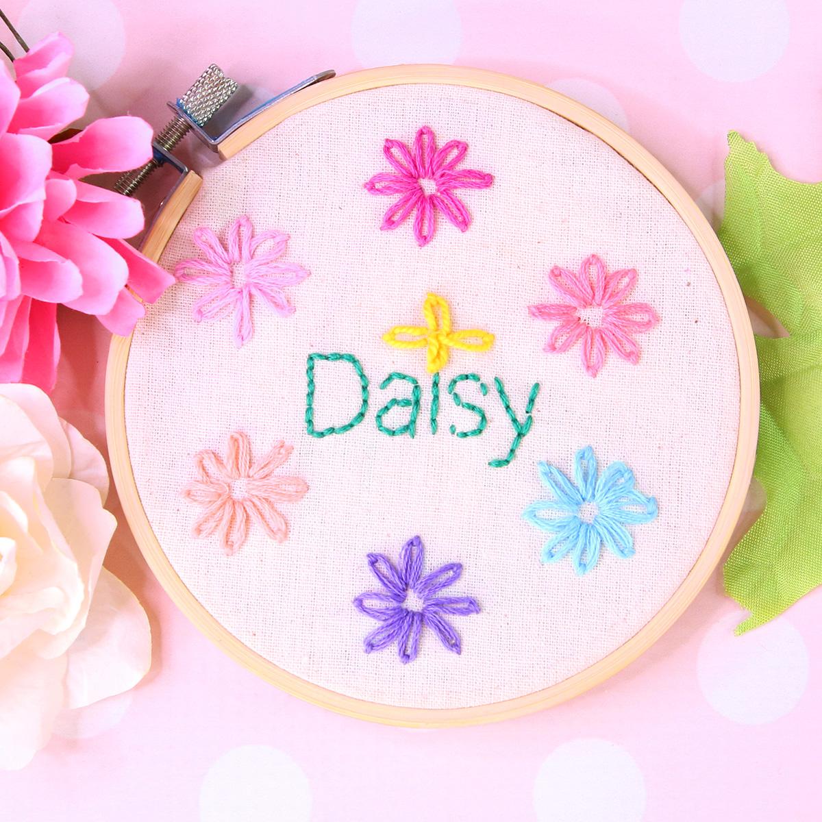 lazy daisy embroidery stitch