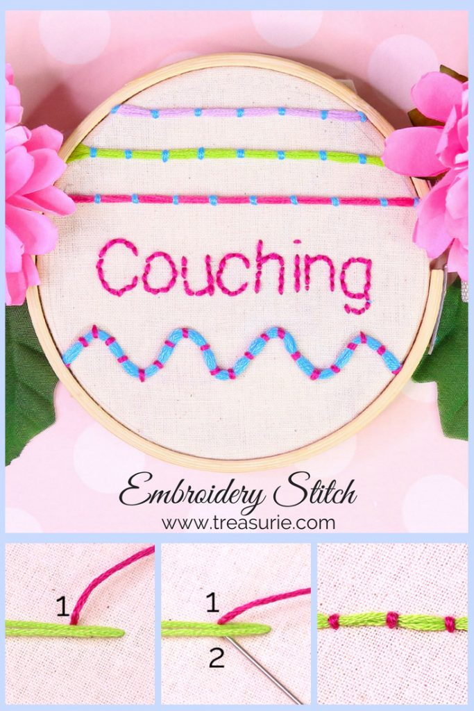 couching stitch embroidery